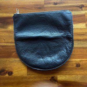 Black leather Baggu Clutch